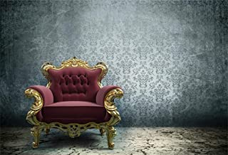 Leyiyi 9x6ft Vintage Sofa in Abandoned Room Backdrop Luxury Armchair European Frame Grunge Floor Gothic Ruin House Photo Background Cowboy Halloween Adults Portrait Shoot Studio Vinyl Prop Wallpaper