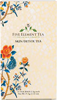 5 Element Tea - Herbal Tea for Skin and Detox to Reduce Halitosis (Bad Breath), Diminish Acne, and Calm Rashes