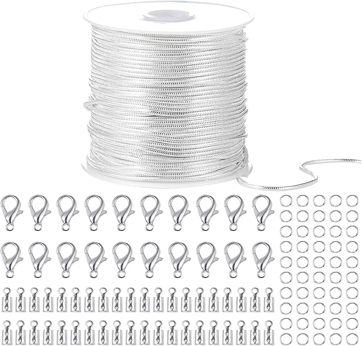 Timagebreze 33 Feet Genuine Free Shipping Snake Chains 5 popular Link Lobste 20 Chain Cable with