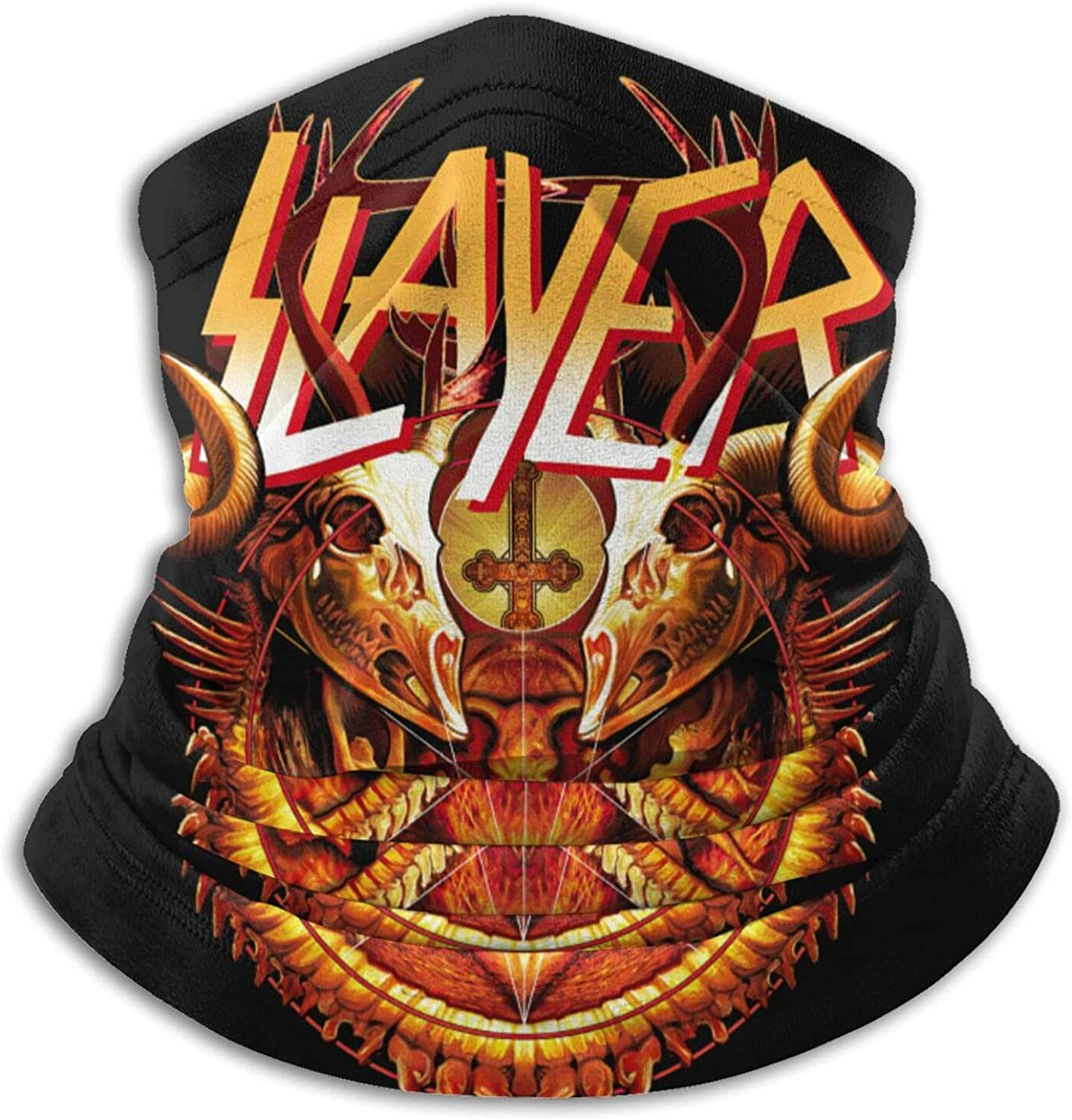 Slayer Unisex Neck Gaiter Face Mask Mens Women'S Multifunction Balaclava Face Cover,Cycling Mask,Sport Neck Gaiter,Hiking Scarf,Fishing Mask,Sunscreen Breathable Bandana, Motorcycle Face Cover