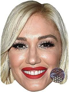 Gwen Stefani (Smile) Celebrity Mask, Card Face and Fancy Dress Mask