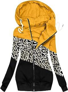 Cappotto Felpa Donna Moda Solido Giacca Tasca con Cerniera Manica Lunga