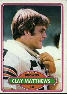 1980 Topps #418 Clay Matthews RC Rookie Card Cleveland Browns Football NFL