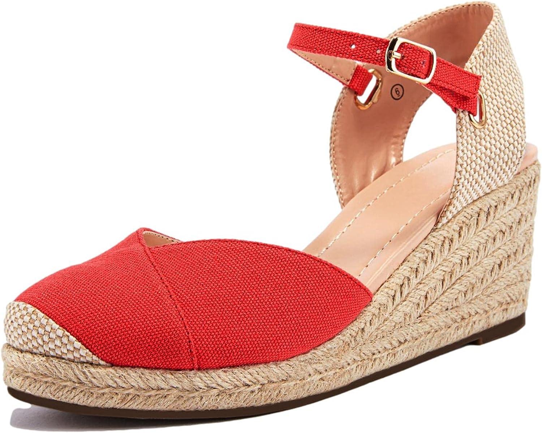 Ranking TOP8 Womens Wedge Espadrille Sandals Platform Slin Washington Mall Strap Buckle Cross