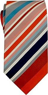 Remo Sartori - Cravatta in Pura Seta A Righe Regimental Multicolor, Made In Italy, Uomo
