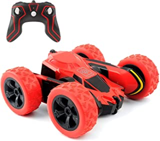 """Amicool SMC-HW112, 4WD 2.4Ghz Remote Control Car Double Sided Rotating Vehicles 360° Flips, Kids Toy Cars for Boys & Girls Birthday, Red, 16"""""""