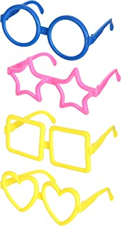 Emotions Fun Glasses, Set of 4 - Multi Colors