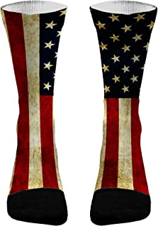 Vintage American Flag Athletic Socks | American Flag Compression Socks | American Flag Socks Men | American Flag Socks Women