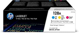 HP 128A | CE321A, CE322A, CE323A | 3 Toner Cartridges | Cyan, Yellow, Magenta