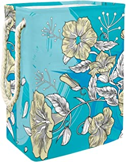EZIOLY Panier à linge pliable en forme de fleur avec poignées, supports amovibles, étanche pour vêtements, jouets, organis...