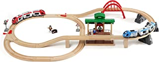 BRIO World - 33512 Travel Switching Set   42 Piece Train Toy with Accessories and Wooden Tracks for Kids Ages 3 and Up