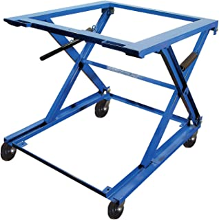 Vestil PS-4045-CK Steel Adjustable Pallet Stand with Caster Kit, 1500 lbs Capacity, 48-9/16