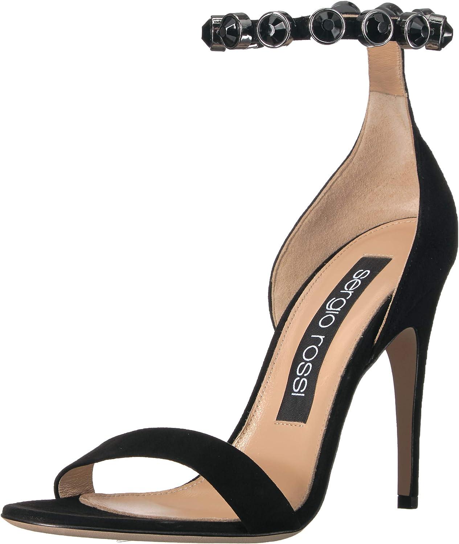 Sergio 2020 登場大人気アイテム Rossi Women's Crystal Moon Heeled Sandal