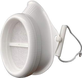 θ(シータ)交換式不織布フィルター150日分付き 樹脂製の本体は繰り返し使用可 国産 (ホワイト, やや小さめ)