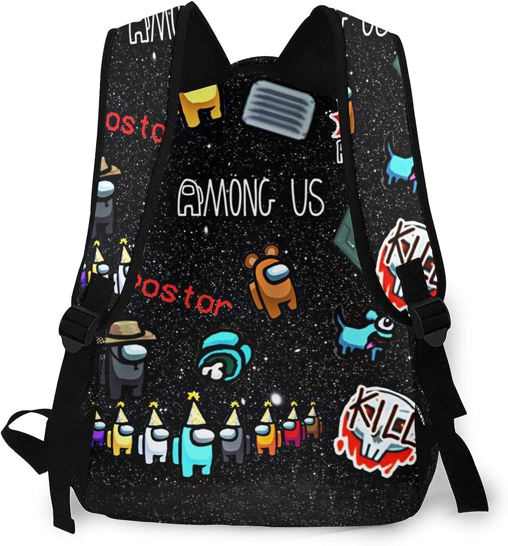 Maogou Among Us sac /à dos parmi nous sac d/école de grande capacit/é sac d/épaules l/éger pour avec poches lat/érales de bouteille homme femme adolescent