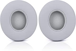 Solo 2/3 Wireless Earpads - JECOBB Replacement Ear Cushion Pads with Protein Leather and Memory Foam for Beats Solo 2.0/3.0 Wireless On Ear Headphones ONLY (Gray)