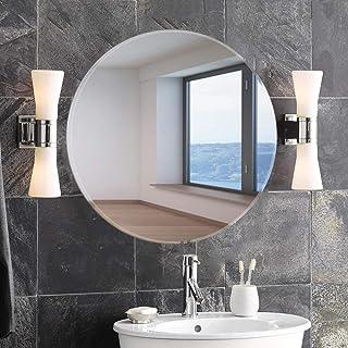 Art Street Frameless Beveled CircularWall Mirror, Modern Frameless Mirror for Bathroom, Bedroom, Living Room Hanging -23 X 23 Inchs