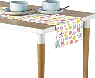 Fabric Textile Products, Inc. Easter Bunnies & Eggs Toss Milliken Signature Table Runner - Assorted Sizes (12