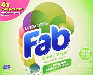 Fab Ultra Powdered Laundry Detergent, Spring Magic, 2.1lbs.