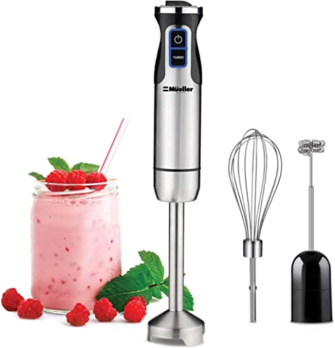 Mueller Austria Ultra-Stick 500 Watt 9-Speed Immersion Multi-Purpose Hand Blender Heavy Duty Copper Motor Brushed 304...