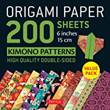 Origami Paper 200 sheets Kimono Patterns 6 (15 cm): Tuttle Origami Paper: High-Quality Double-Sided Origami Sheets Printed...