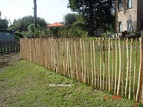da 1PZ Pali tondi in legno con punta trattati ed impregnati per recinto//staccionata//steccato Palo Tondo /Ø CM 8 altezza CM 150 H NEXTRADEITALIA CF