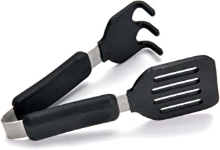 Norpro Grip-EZ Grab and Lift Silicone Tongs, Set of 1, Black