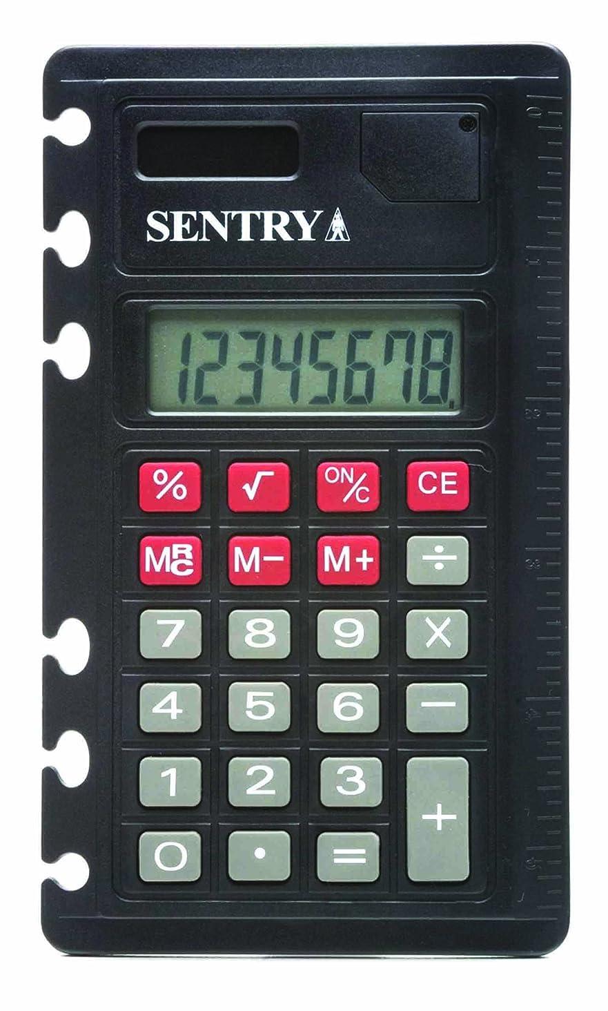 免除ご近所ジャンクションSentry ca378?Solar Poweredノートブック標準関数電卓
