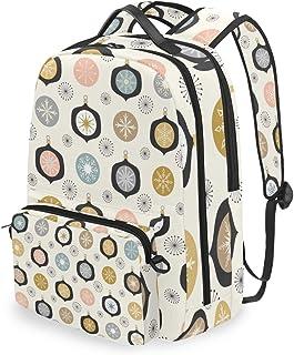 Mochila con bolsa cruzada desmontable, bonita decoración de Navidad, mochila para ordenador, bolsa para viajes, senderismo, acampada