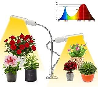 LED Grow Lights, 50W Full Spectrum Growth lamp, Double Head gooseneck Indoor Plant lamp.