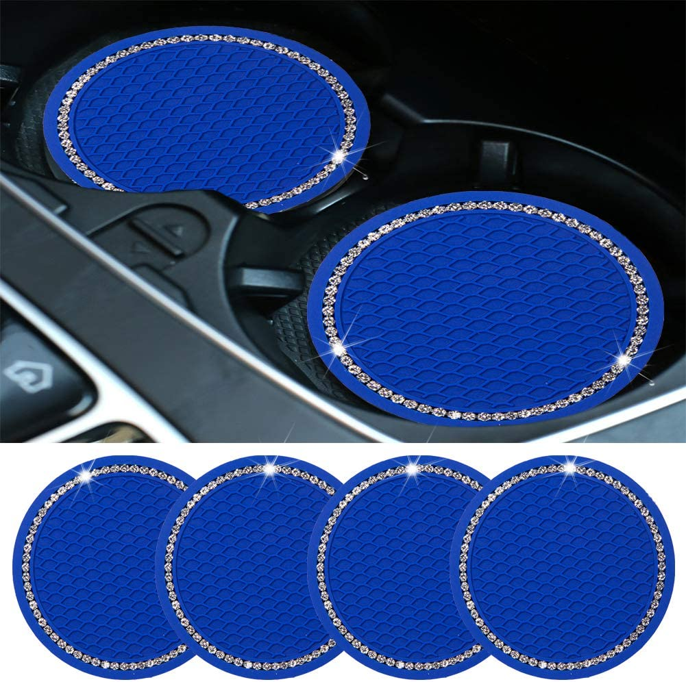 Surmu 4 Pack Bling Car Coasters Cryst Japan's largest assortment Anti for Max 65% OFF Holders Cup Slip