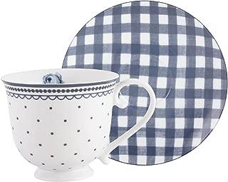 Katie Alice Vintage Indigo Cup and Saucer by Creative Tops, 200 ml (7 fl oz)