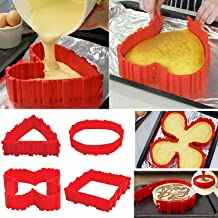 OOOUSE SYNCHKG120799 Nonstick 4PCS Silicone Cake Mold Cake Pan Magic Bake Snake DIY Baking Mould Tools - Design Your Cakes Any Shape