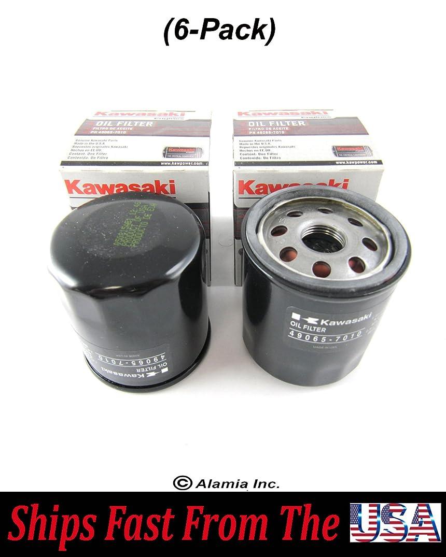 Alamia, Inc. (6-Pack) Genuine Kawasaki Oil Filter 49065-7010 Fits FB,FC,FJ Series Engines