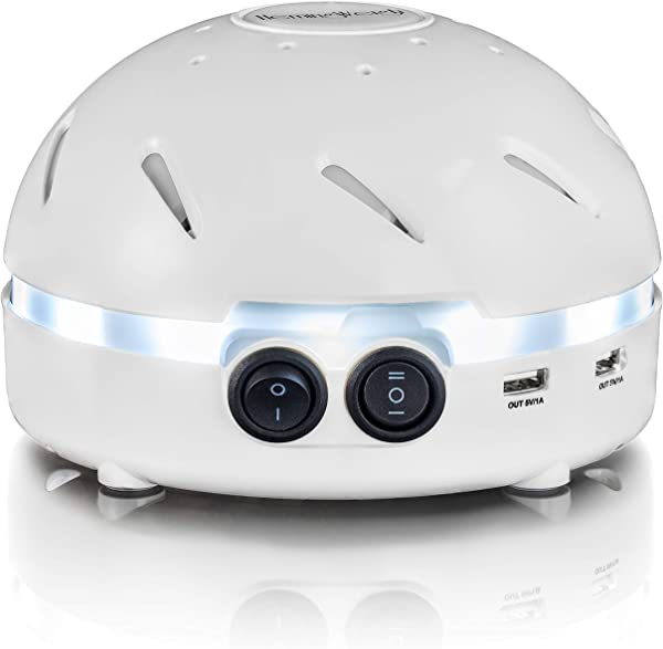 HemingWeigh White Noise Sound Machine Quality Sounds Masks Disturbing Noise And Reducing Sound For Improved Sleep Relaxation And Enriched Concentration Built In USB LED Night Light