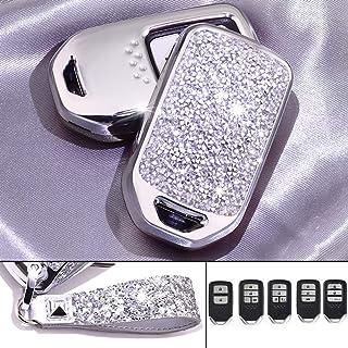 Royalfox(TM) 2 3 4 Buttons 3D Bling Smart keyless Entry Remote Key Fob case Cover for Honda Jade HR-V CR-V Accord Crider V... photo