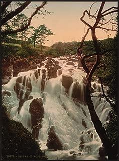 Historic Photos 1890 Photo Swallow Falls I, Fairy Glen, Bettws-y-Coed (i.e. Betws), Wales Location: Betws, Coed, Snowdonia National Park, Wales, Y
