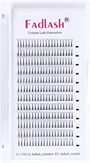 Voorgemaakte Russische Volume Lashes 3D 0.10mm Dikte C Curl 13mm FADLASH Lengte Premade Wimperverlengingen Premade Fans
