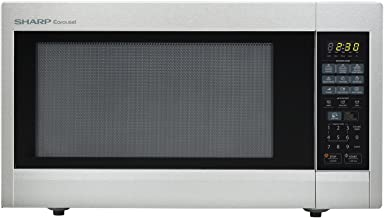 Sharp Countertop Microwave Oven ZR651ZS 2.2 cu. ft. 1200W Stainless Steel with Sensor Cooking, Cubic Foot, 1200 Watts