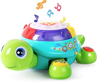 Musical Turtle Toy, Electronic Toys, English N Spanish Learning, Lights N Sound, Early Development, Educational Gift for A...