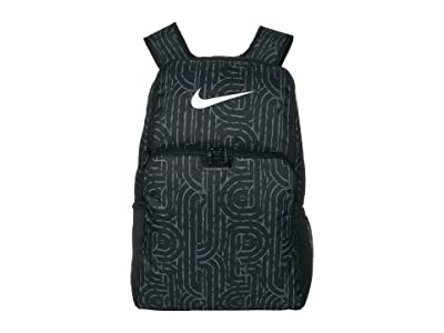 Nike Brasilia XL Backpack 9.0 All Over Print (Black/Black/White) Backpack Bags