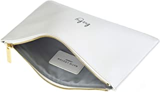 Perfect Pouch Baby Simple White Women's Faux Leather Clutch Perfect Pouch