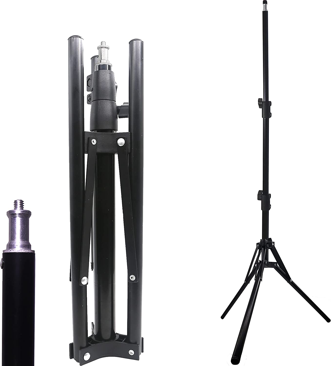 4.2 Foot Limited price sale Aluminum Large-scale sale Tripod Stand Portable and Heavy-Duty Foldable