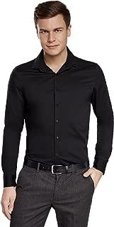 Hombre Camisa de Algodón Ajustada