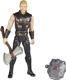 Boneco Thor e Acessório Vingadores Guerra Infinita Hasbro Cinza/Marrom/Preto 30cm