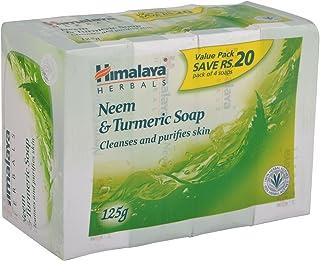 Himalaya Soap - Neem and Turmeric, 4 x 125g Pack