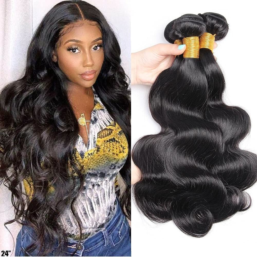メーカー再生品 10A 格安店 Brazilian Body Wave Bundles Virgin 100% Human U Hair