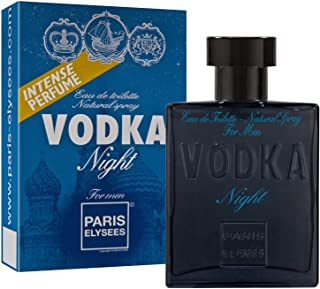 VODKA Night Perfume para hombre Eau de toilette pour homme Paris Elysees 100 ml Aromático - Amaderado