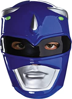 Men's Sabans Mighty Morphin Power Blue Ranger Vacuform Mask Costume Accessory