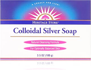 Heritage Store Colloidal Silver Soap, 3.5 Ounce